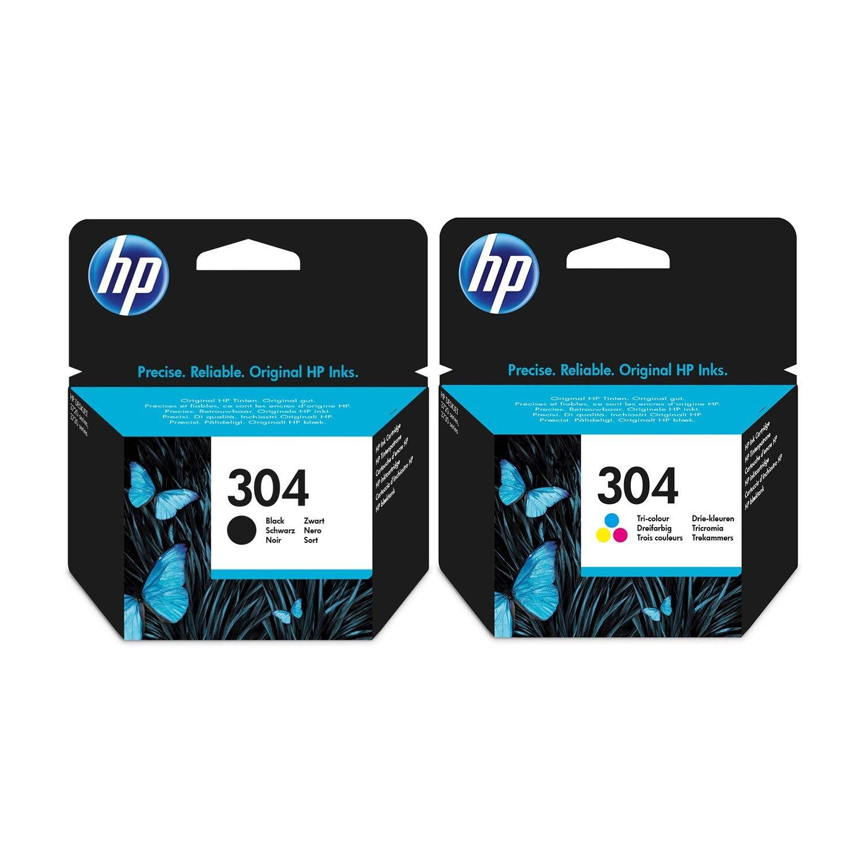 Negro y Tricolor HP Cartucho de Tinta – para impresoras HP Deskjet 3730 – Original Cartucho de Tinta