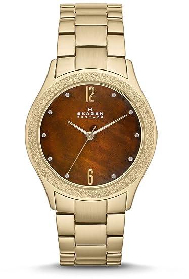 Skagen SKW2108 - Reloj de pulsera mujer, acero inoxidable, color dorado