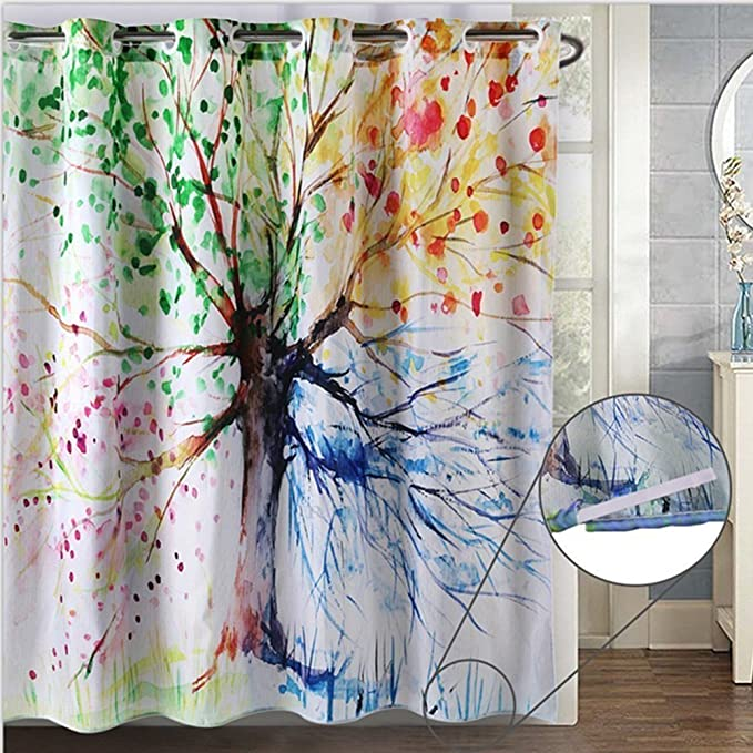 AMAZON HOOKLESS SHOWER CURTAIN