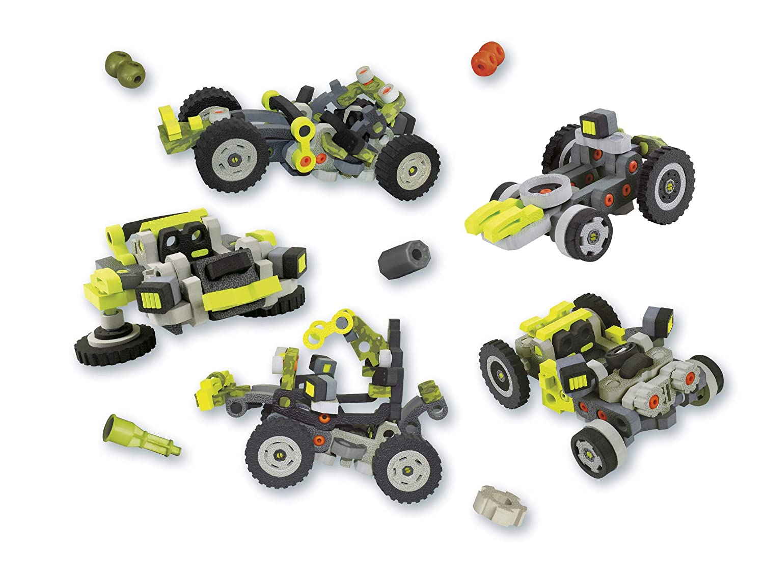 Amazon.com: Bloco Toys 3 in 1 Wild Wheeler | STEM Toy | Jeep, Dune Buggy, ATV 4 Wheeler | DIY Building Construction Set (242 Pieces): Toys & Games