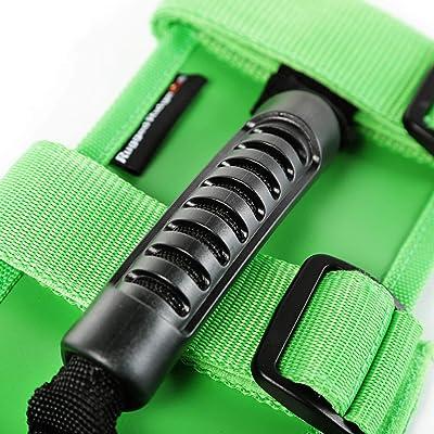 Rugged Ridge 13505.05 Ultimate Grab Handle Kit, Green for 55-current Jeep CJ/Wrangler/Gladiator: Automotive