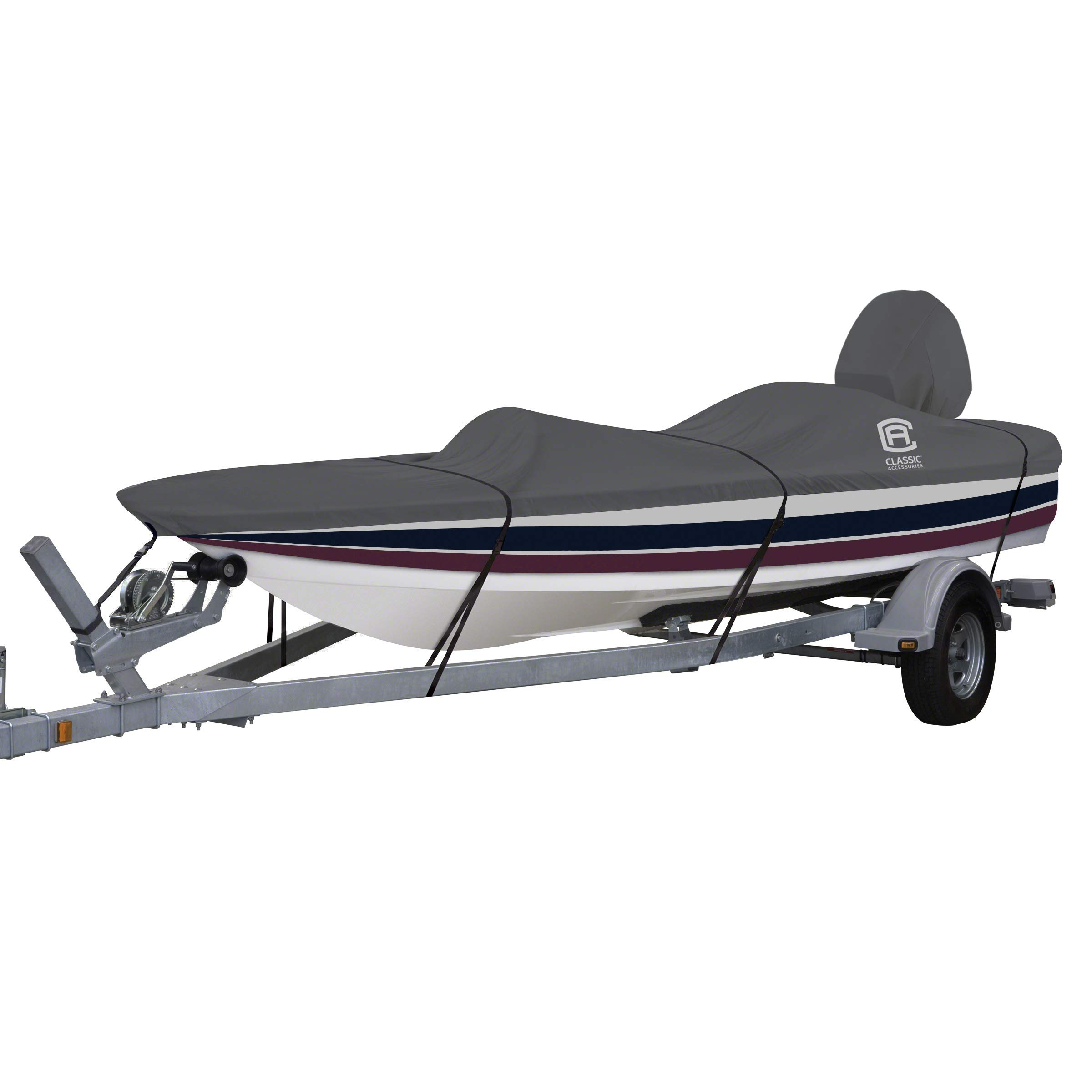 Classic Accessories StormPro Heavy Duty Outboard Ski-Boat Cover with Support Pole, Fits Boats 18'6'' - 19'6'' L x 89'' W by Classic Accessories