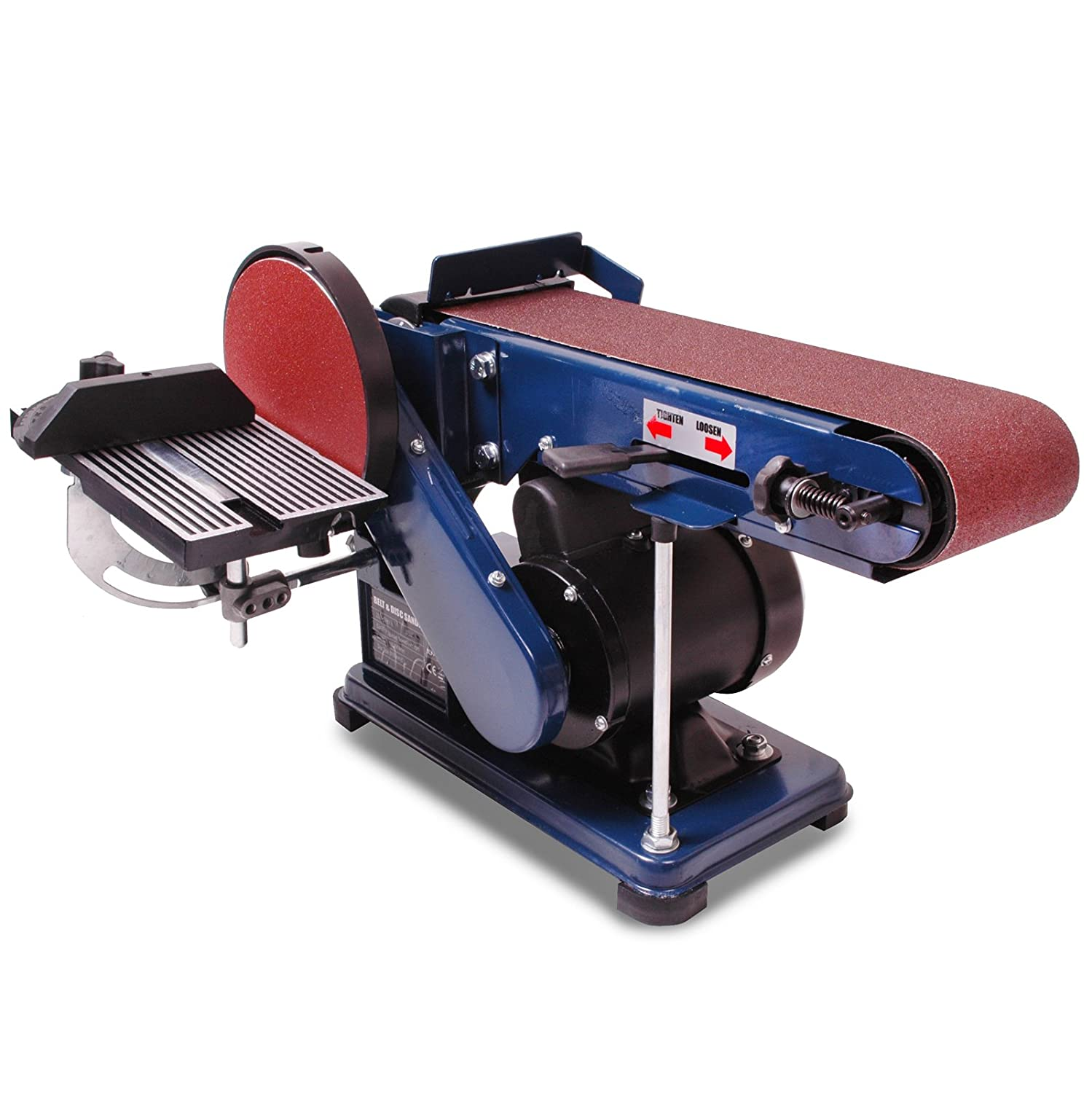 Heavy Duty Electric 4 Inch Belt 6 Inch Circular Disc Wood Plastic Sanding Workshop Carpentry Power Sand Sander Machine XXR Tools