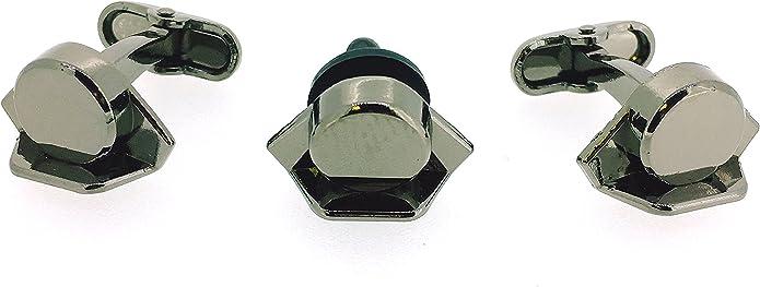 Pack Gemelos para Camisa - Pin de Solapa Tricornio Guardia Civil 3D Acero Negro: Amazon.es: Joyería