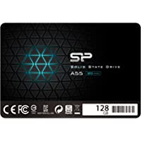 """Silicon Power 128GB-SSD 3D NAND A55 SLC Cache Performance Boost SATA III 2.5"""" 7mm (0.28"""") Internes Solid State Drive"""