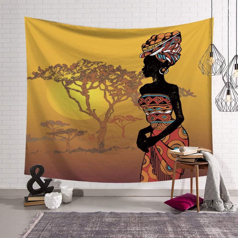 Vintage Boh/ème Wall Hanging Tapisserie Africaine Femme Noire en Robe Color/ée Grand Tissu Rectangulaire /À D/écor Art Salon Chambre /À Coucher,150/×130Cm PatTheHook Tapisserie Murales