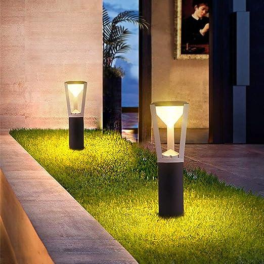 Modern Design Led Garden Light Led Outdoor Masonry Lawn Lamp Outdoor Landscape Lighting Waterproof Dark Grey Lawn Light Amazon Ca Home Kitchen