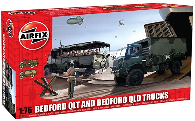 Airfix A03306 Bedford QT v1 1:76 Scale Military Vehicle Series 3 Model Kit