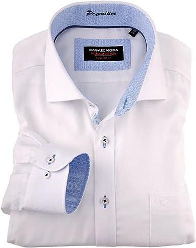 Camisa Manga Larga Blanca sin planchdo en Talla XXL, 45-57:44: Amazon.es: Ropa y accesorios