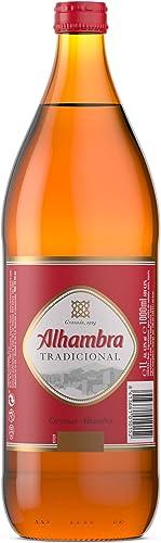 Alhambra - Tradicional Cerveza Lager, 4.6 % Volumen de Alcohol - Botella de 1 L