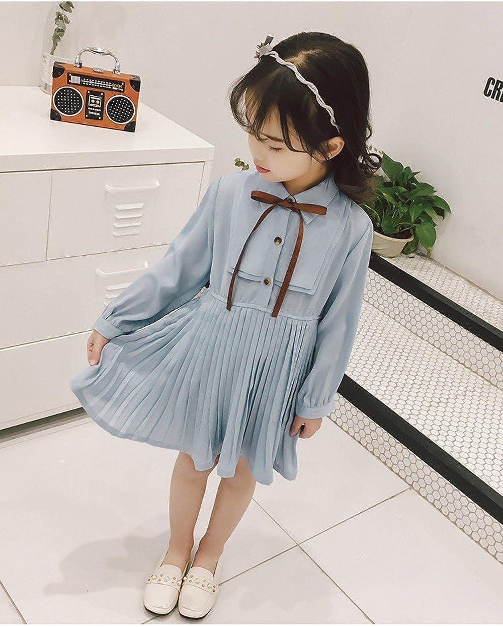 Vestidos Bebé niña, ❤ Modaworld Vestido de Bowknot sólido drapeado de bebés niñas Vestidos de Fiesta Princesa Slim Casaul de Manga Larga Trajes Ropa ...