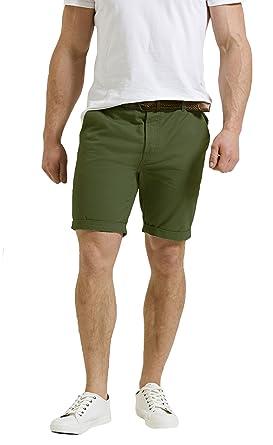 Threadbare Mens Chino Shorts Casual Designer Cotton Knee Length Shorts  Belted 77e30a64e