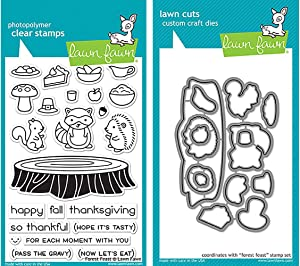 Lawn Fawn Clear Stamp & Die Set - Forest Feast (Kit)