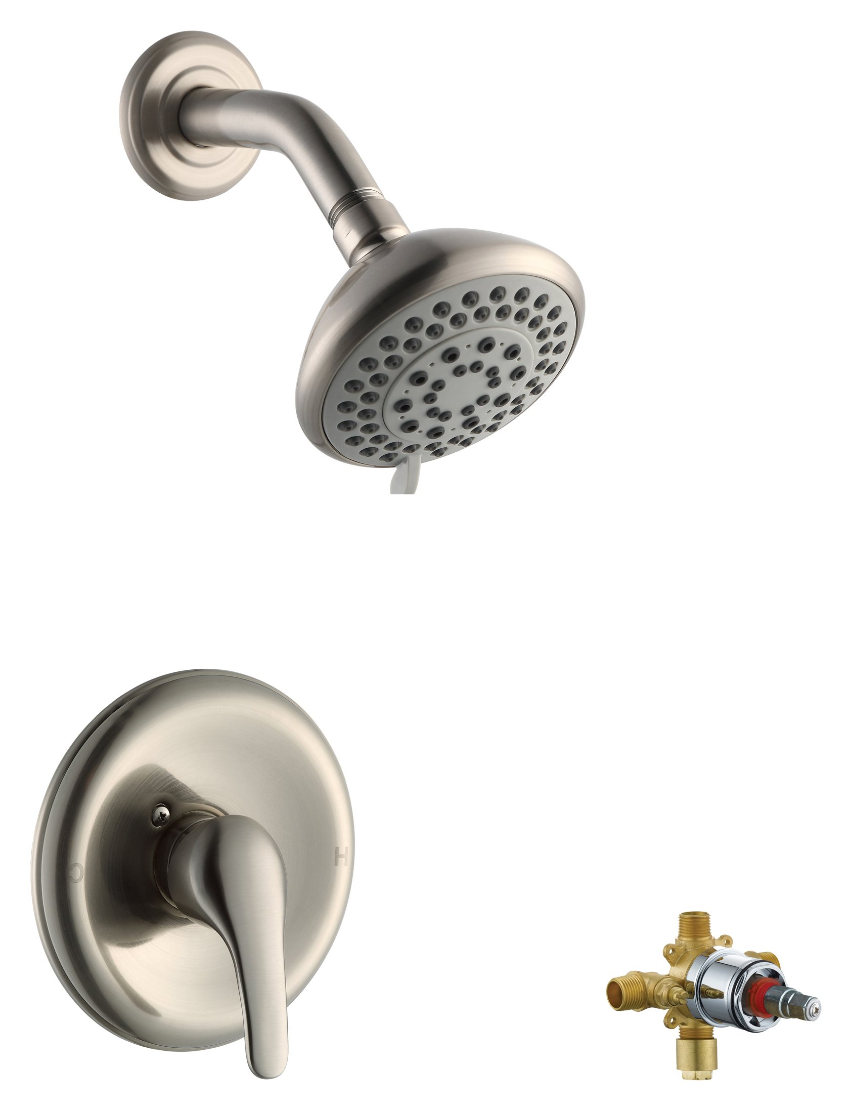 Design House 545780 Middleton Shower Faucet, Satin Nickel, Includes Complete Installation Kit with Valve by Design House