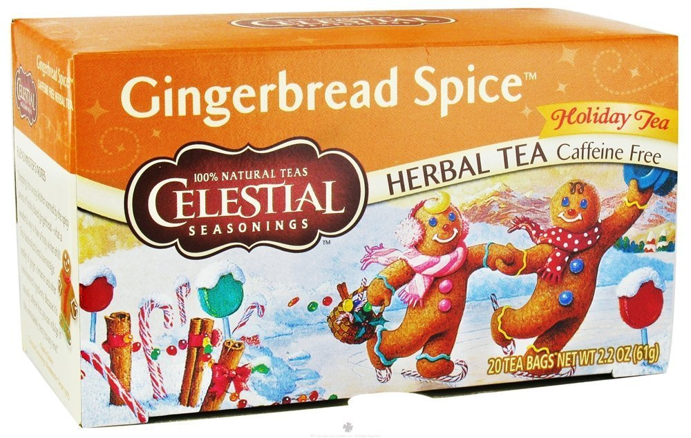Celestial Seasonings Holiday Tea Gingerbread Spice Herb Tea, 20-count (Pack of 2)