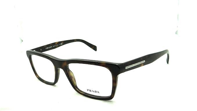 f97ad27f63c1 Amazon.com  Prada Rx Eyeglasses Frames Vpr 06r Haq-1o1 53x18 Matte ...
