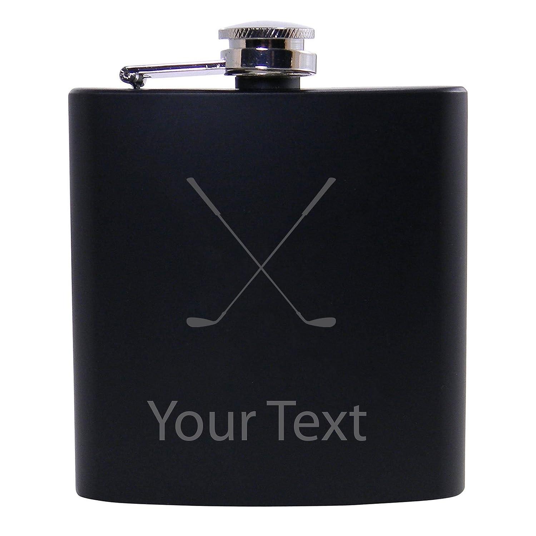 正式的 Personalized Custom B06WWP6RP9 Crossedゴルフクラブブラックステンレススチールヒップカスタマイズ可能なフラスコ Custom Personalized B06WWP6RP9, Jewelry&Watch LuxeK:02673206 --- a0267596.xsph.ru