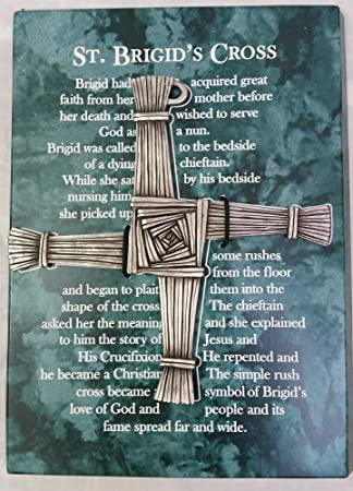 Amazon St Brigids Wall Cross 5 Inch Fine Pewter With Story Of