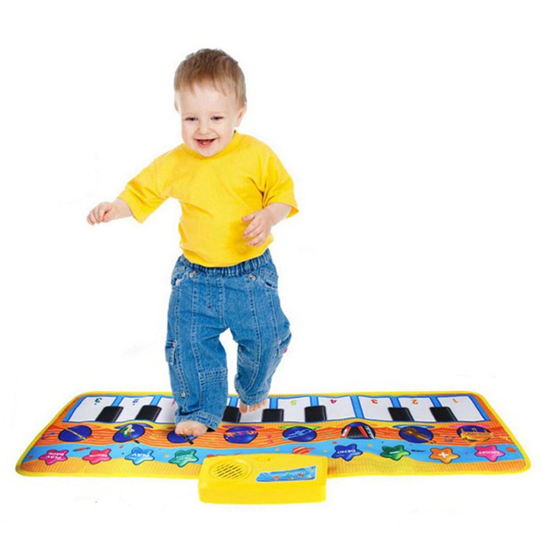 DUODE Piano Mat Juguete Enorme Teclado Baile Colorido niños con 17 Teclas -geignet Plegables como un Juguete de Regalo DUODEDUO