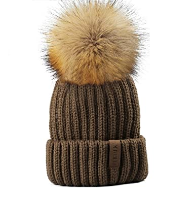 FURTALK Kids Bobble Hats - Winter Pom Pom Hat Girls - Warm Knitted Beanie  Hat ( d22740f38b4