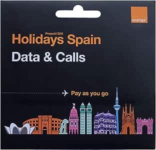 Orange - Tarjeta SIM Prepago Holidays Spain | para Turistas | Ideal Segunda Línea | 30 GB en España | 9,5 GB en Resto de Europa | Número Móvil Español: Amazon.es: Electrónica