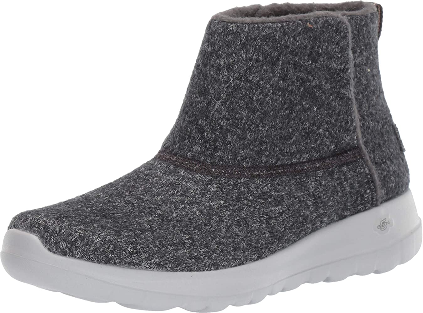 Ankle Boots, Grey Charcoal Wool Ccl