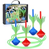Lawn Darts Game – Glow in The Dark, Outdoor Backyard Toy for Kids & Adults | Fun for The Entire Family | Work On Your Aim & A