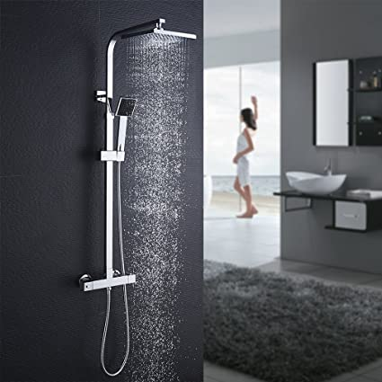 Auralum columna de ducha con grifo termostático
