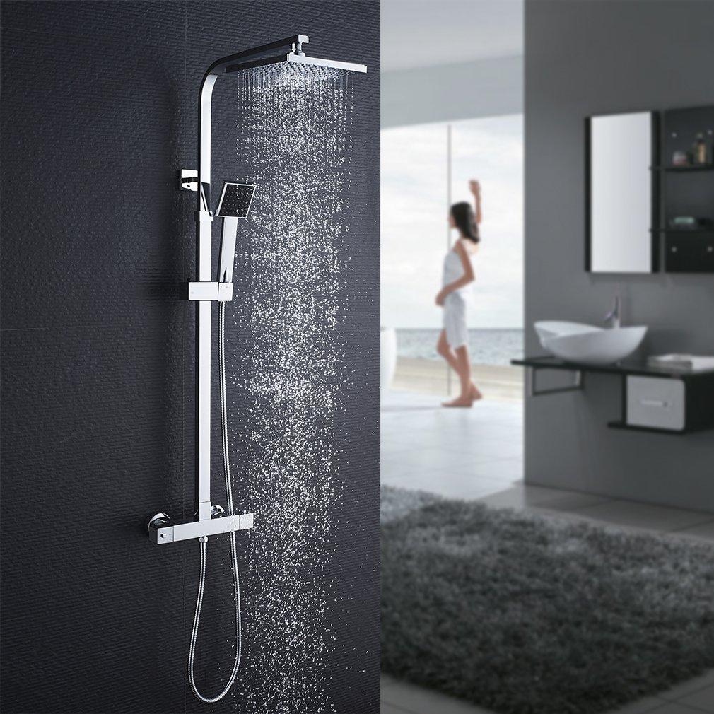 kinse –  Sistema de ducha para griferí a baterí a bañ era contemporá nea 5 orificios Juego de cascada bañ era grifo ducha de mano para bañ o cuarto de bañ o TSD