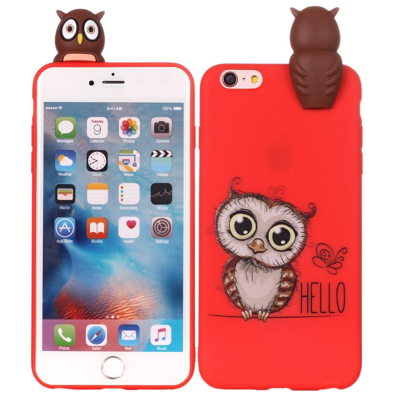 Amazon com: SHUNDA iPhone 6S Plus Case, 3D Cute Cartoon
