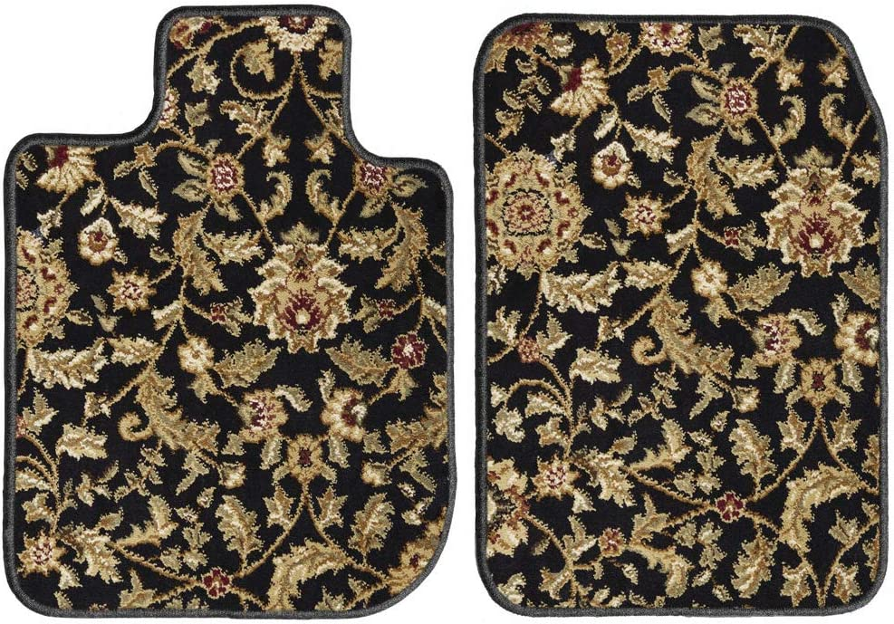 2016 GG Bailey D51462-F1A-BK-OR Custom Fit Car Mats for 2015 2018 Audi Q3 Black Oriental Driver /& Passenger Floor 2017