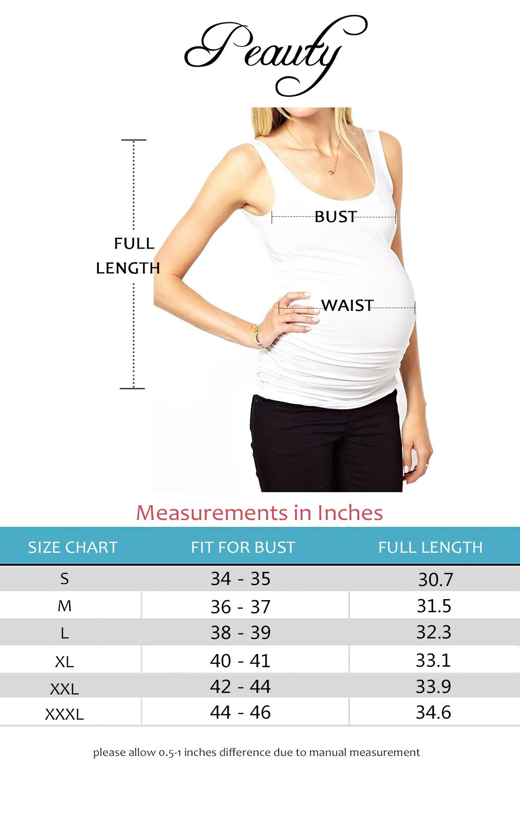 Peauty Maternity Tank Tops Bathing Suit t Shirts Shorts Pregnancy Clothes Women Plus Size 2X 3X (WineRed,XXXL) by Peauty (Image #2)
