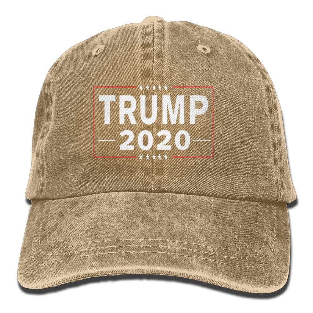 Genmai Si Quanjia Trump 2020 Man & Woman Vintage Adjustable Jean Cap Trucker Hat
