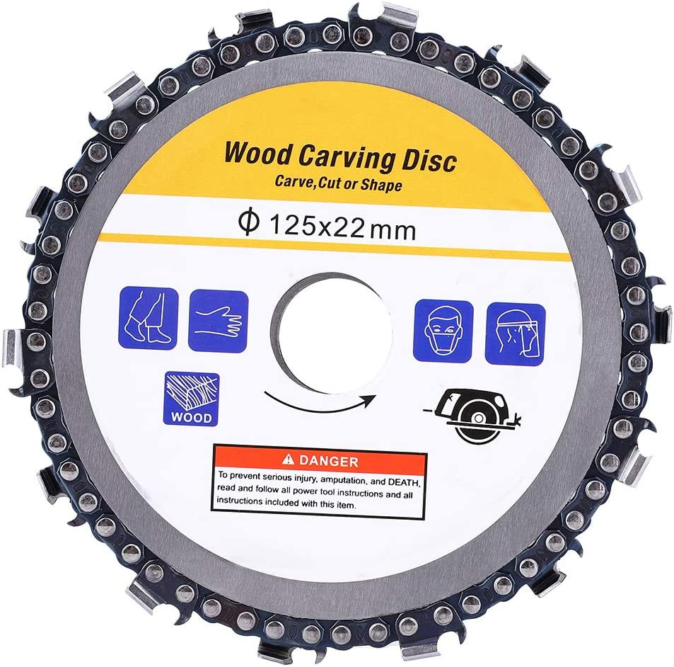 Disco per sega a catena da 5 pollici accessori per smerigliatrice angolare con lama da taglio Parti hardware per plastica//legno
