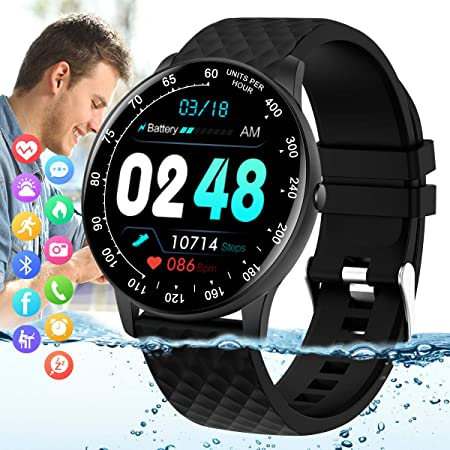 side facing peakfun ip67 fitness tracker