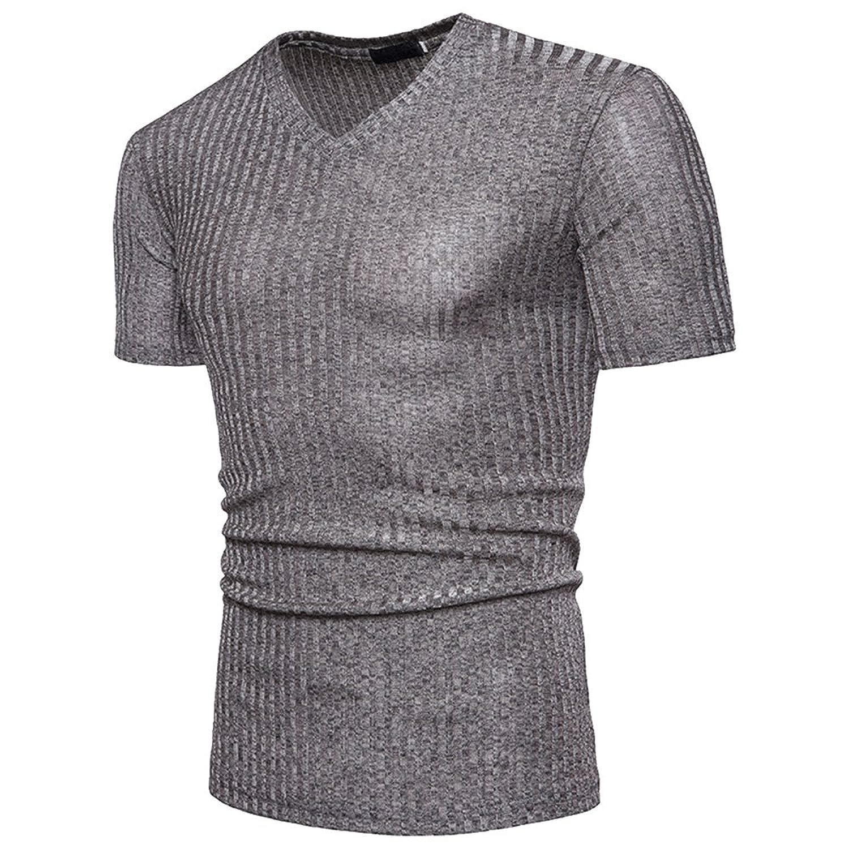 8c86471ea2fd Sfit Homme Haut Tops T-Shirt Manches Courtes Été Casual ...