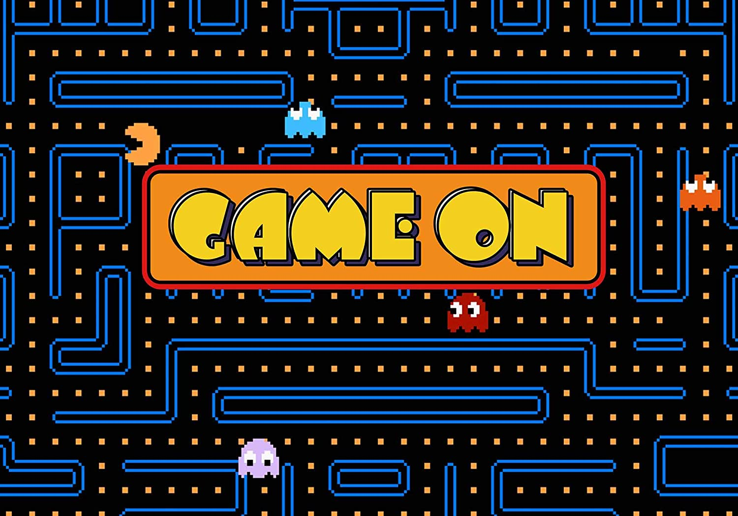 Video Games 8x10 FT Backdrop Photographers,Arcade Machine Retro Gaming Fun Joystick Buttons Vintage 80s 90s Electronic Background for Baby Shower Bridal Wedding Studio Photography Pictures Multicolor