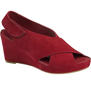 b4b890a1e5dc69 Johnston   Murphy Women s Tori Red Wedge Sandal