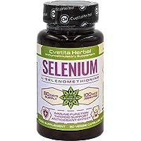 Selenium   80 Vegetarische Capsules x 100mcg (80 dagen levering)   Onderhoud van Normaal Haar   Nagels   Immuunsysteem…