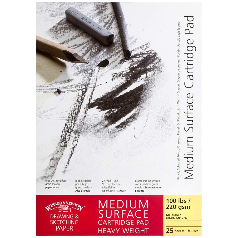 Gummed A4 2... Winsor /& Newton Cartridge Paper Pads Smooth Surface Heavyweight