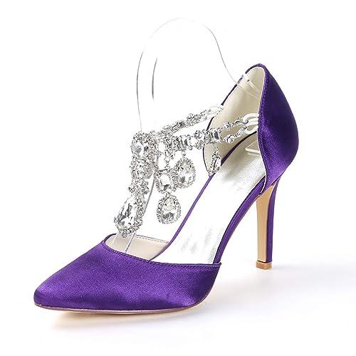 6b5eb2e2eede04 Layearn Frauen Hochzeit Peep Toe High Heel Plattform Frühling Grund Braut  Pumps Satin Strass Brautschuhe