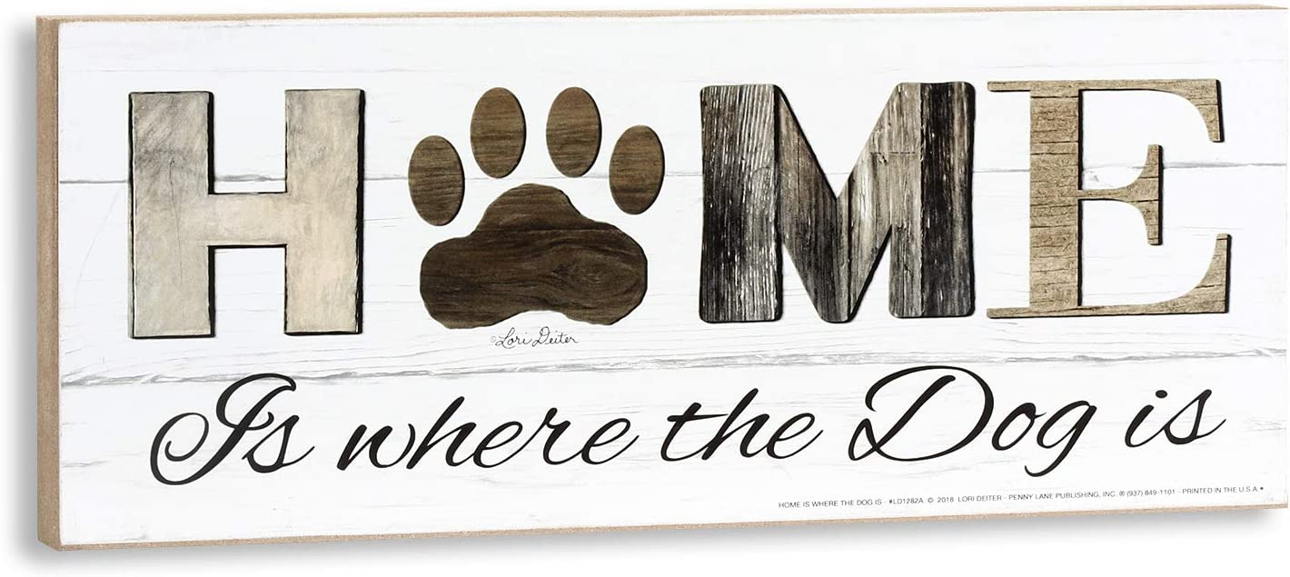 Home is Where The Dog is Wall Plaque