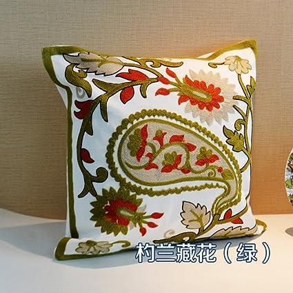 Coser tela hecha a mano almohada del sofá/Cojín que contiene ...