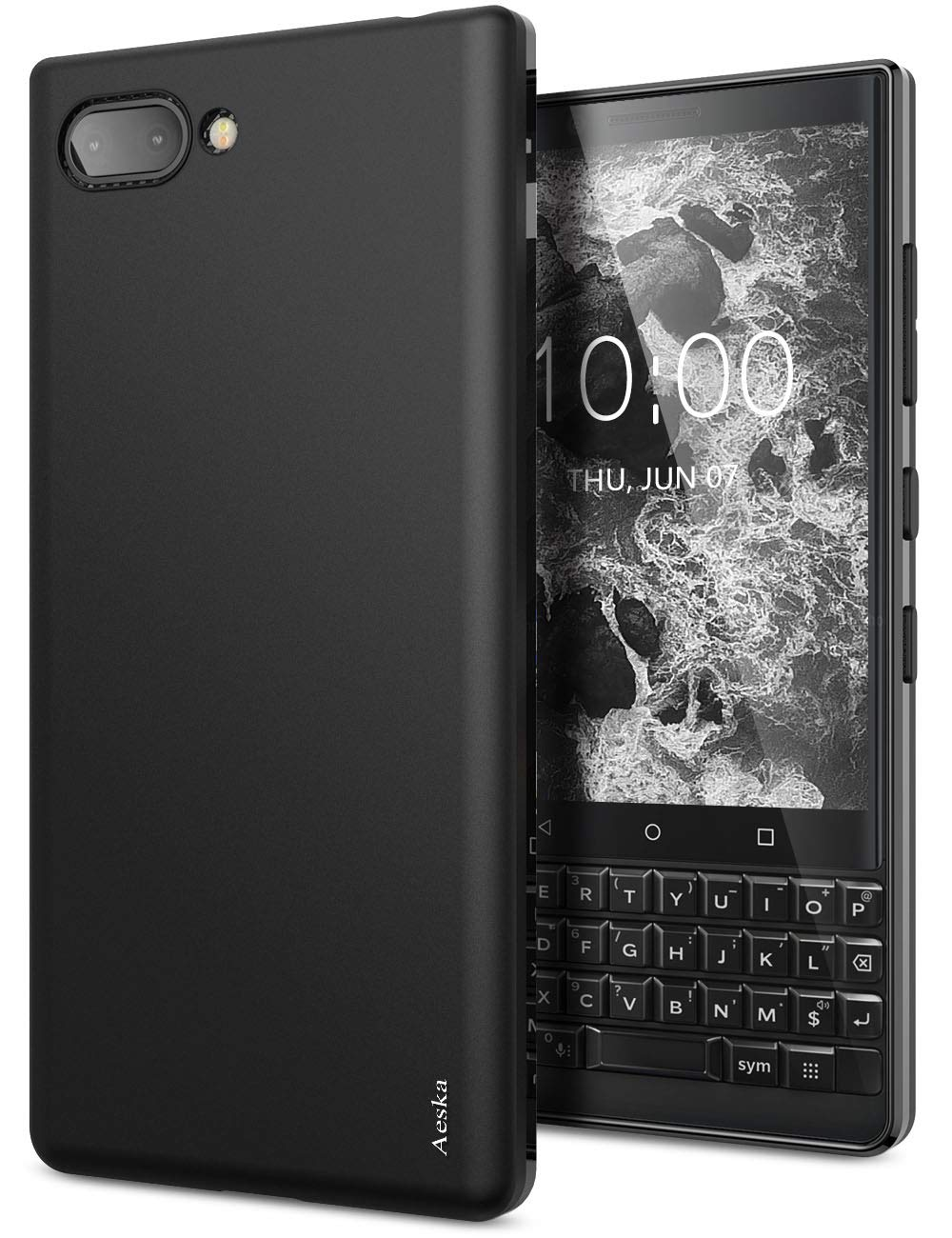 Fundade Silicona Para Blackberry Key2 (negra)