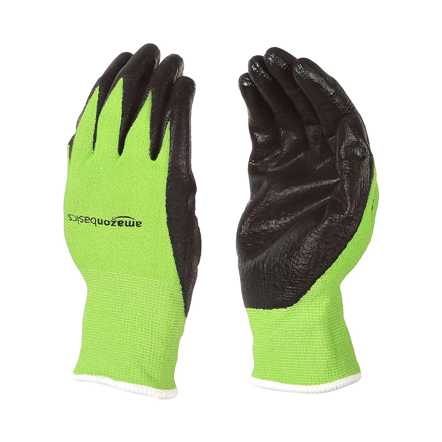 AmazonBasics Bamboo Working Gloves with Touchscreen, Green, XS, 5-Pair