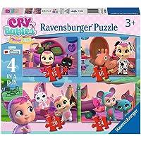 Ravensburger - Cry Babies Puzzle 4 en una Caja, 12-16-20-24 Piezas, para Niños 3+ Años