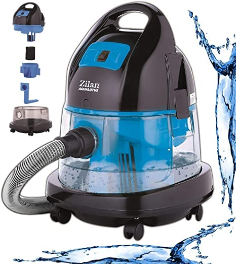 Zilan - Aspirador con filtro de agua para interior y exterior (2000 W, con o sin bolsa): Amazon.es: Hogar