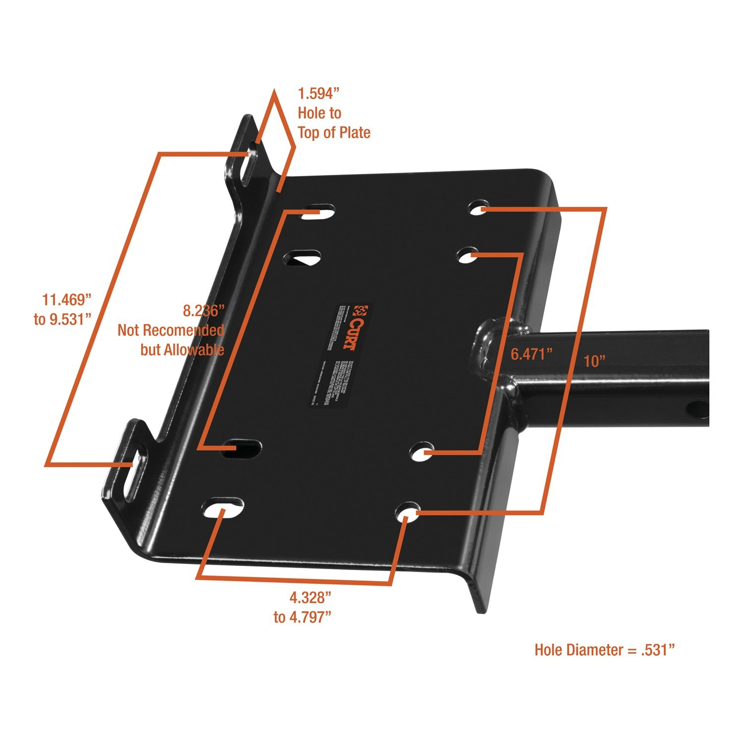 Curt Manufacturing 31009 Winch Plate And Handle Assembly
