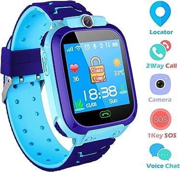 Reloj Niños Smartwatch LBS/GPS Pantalla Táctil Kids Safe Anti ...