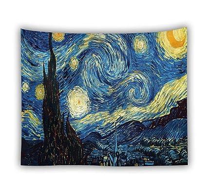 Amazon.com: LJTSDA Van Gogh Oil Painting Cushion Wall ...